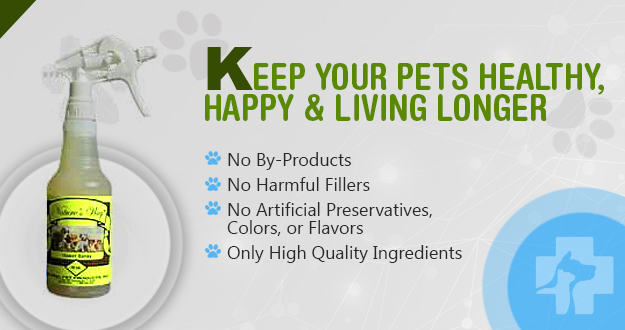 Healthy Food For Pets keeps your pets healthy, happy & living longer.  Our products have no by-products, no harmful fillers, no artificial preservatives, colors, or flavors - only high-quality ingredients.